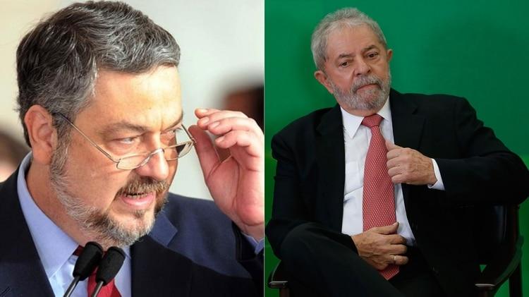 Antonio Palocci y Lula da Silva