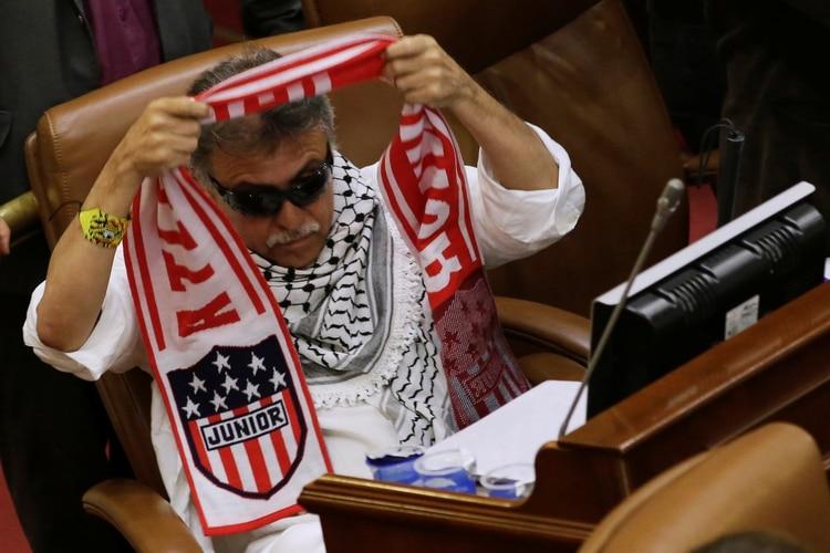 Jesús Santrichen una sesión del parlamento colombiano(REUTERS/Andres Torres Galeano NO RESALES. NO ARCHIVES)