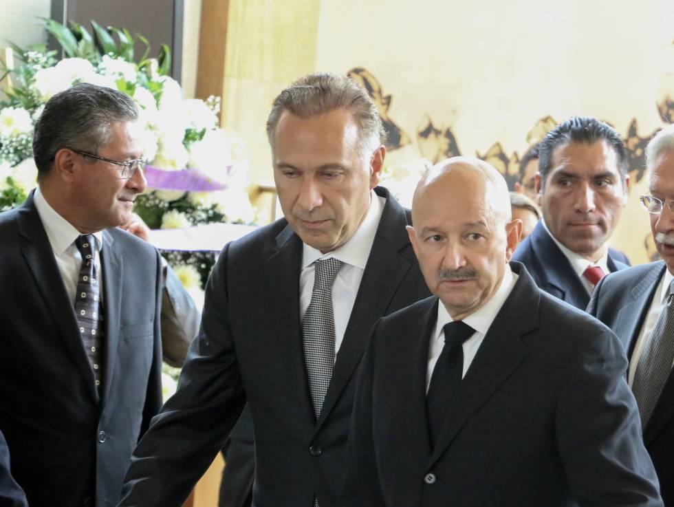 El abogado Juna Collado y el expresidente Carlos Salinas, en 2016