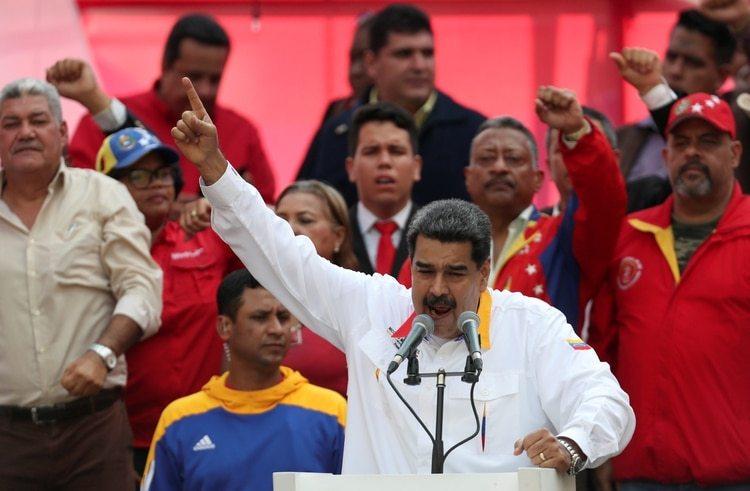El dictador Nicolás Maduro durante un acto en Caracas (REUTERS/Ivan Alvarado/archivo)