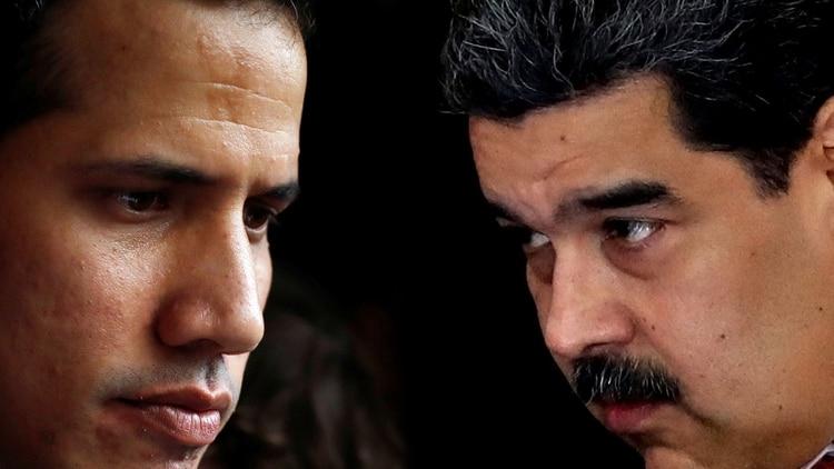 Juan Guaidó y Nicolás Maduro. (Reuters)