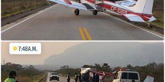 Comenzó el ataque aéreo al fuego en Taperas, gracias a la empresa AgroSpray
