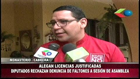 Diputados Monasterio y Cabrera niegan ser «faltones» a sesiones de la ALP