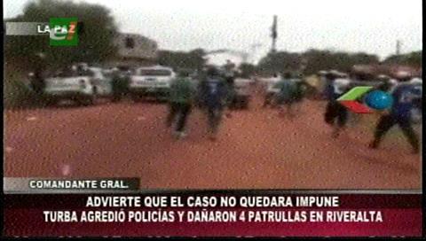 Policía se salva de ser linchado en operativo de desalojo en Riberalta - eju.tv