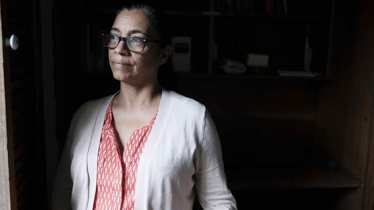 """Lottie Cunningham, durante la presentación del informe """"Resistencia miskitu: una lucha por el territorio y la vida""""(EFE/Jeffrey Arguedas)"""