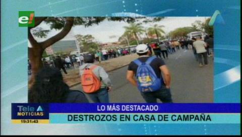 Video titulares de noticias de TV – Bolivia, noche del jueves 12 de septiembre de 2019