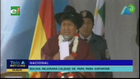 Presidente inaugura centro nacional para innovación de la papa en el municipio de Tarata