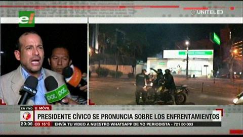 Líder cívico se pronuncia tras los enfrentamientos y llama a la calma a la población