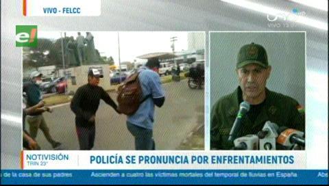 Policía sostiene que hechos vandálicos en Santa Cruz fueron premeditados