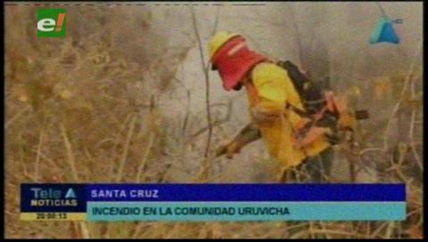 Municipio en Urubichá en emergencia por incendios