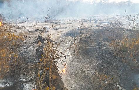 Roboré. Las consecuencias de las quemas en Yororobá.