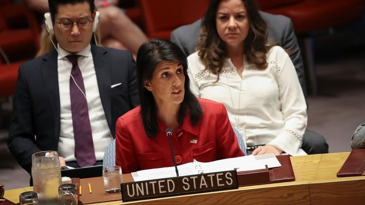 Nikki Haleyrenunció al cargo de embajadora de EEUU ante la ONU hace nueve meses (Getty Images)