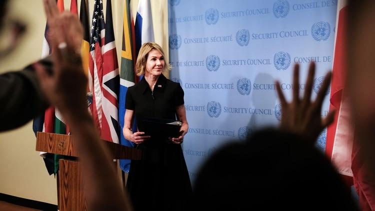 Kelly Craft viene de desempeñarse como embajadora norteamericana en Canadá (AFP)