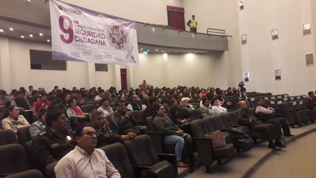 Tarija es el escenario de la Cumbre Nacional de Seguridad Ciudadana