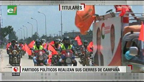 Video titulares de noticias de TV – Bolivia, noche del martes 15 de octubre de 2019