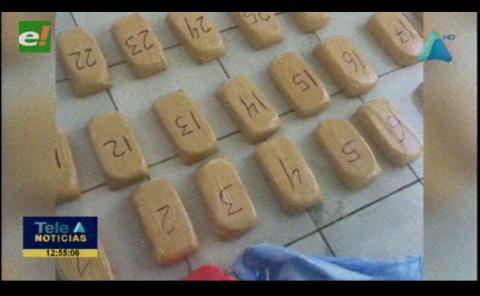 Golpe al narcotráfico en Oruro: Incautan más de 190 kilos de cocaína
