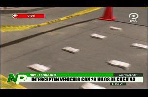 Felcn secuestra vehículo y 20 kilos de cocaína valuados en $us 50 mil en Cochabamba