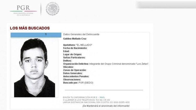 Galindo Melado fue de los primeros desertores del Ejército en formar un cártel (Foto: Especial)