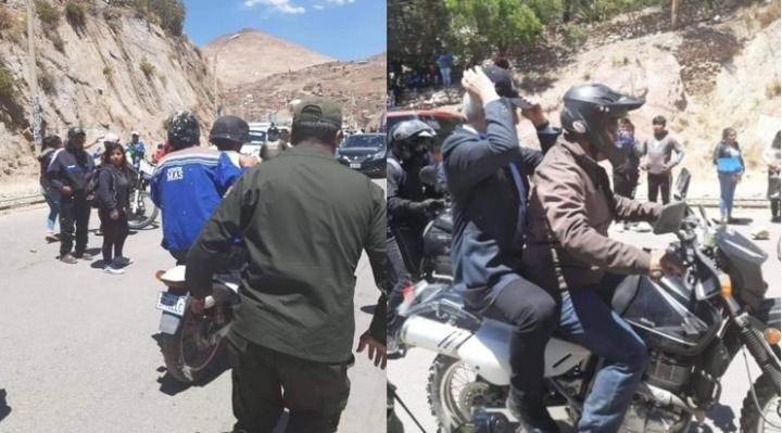 Evo y Álvaro sí escaparon en moto del lío en Potosí; fotos lo «prueban» y contradicen versión del MAS