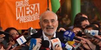 Mesa denuncia que el Gobierno de Evo y el TSE quieren eliminar la segunda vuelta, llama a vigilia nacional