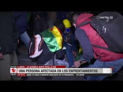 La Paz: tensión y heridos por enfrentamientos en calles del centro - eju.tv