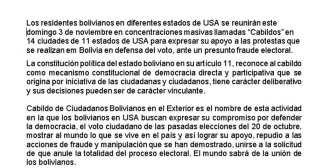 Bolivianos que residen en el exterior organizan cabildos en diferentes…