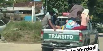 Ver video Ciudadanos encapuchados están en poder de patrullas…