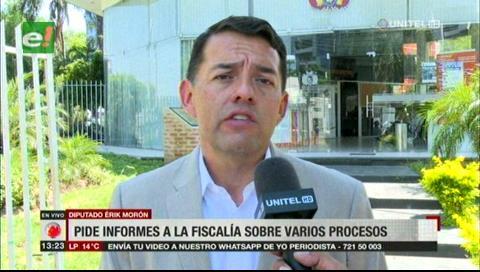 Diputado Morón pide informes a la Fiscalía sobre varios procesos - eju.tv
