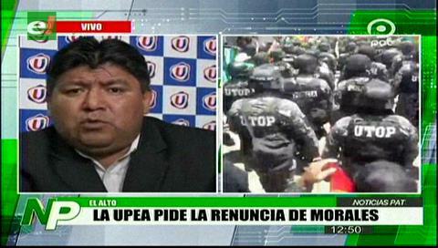 La UPEA se aleja del Gobierno, pide renuncia de Evo y de los vocales del TSE