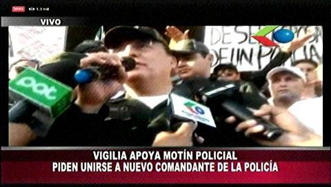 Nuevo comandante de la Policía de Santa Cruz apoya el motín policial