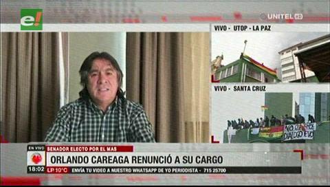 Renuncia primer senador electo por Potosí