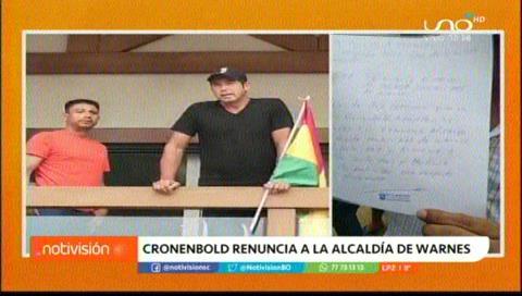 Mario Cronenbold renuncia a la Alcaldía de Warnes