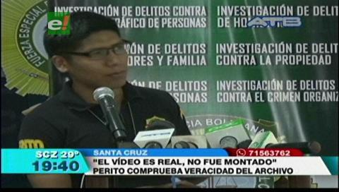 Peritaje confirma la veracidad del video de Faustino Yucra