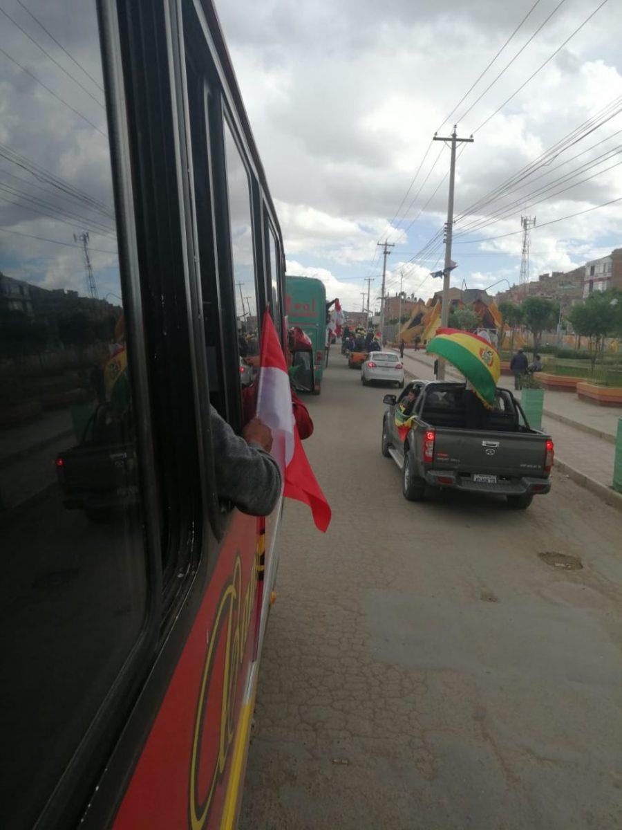 La llegada a Oruro.