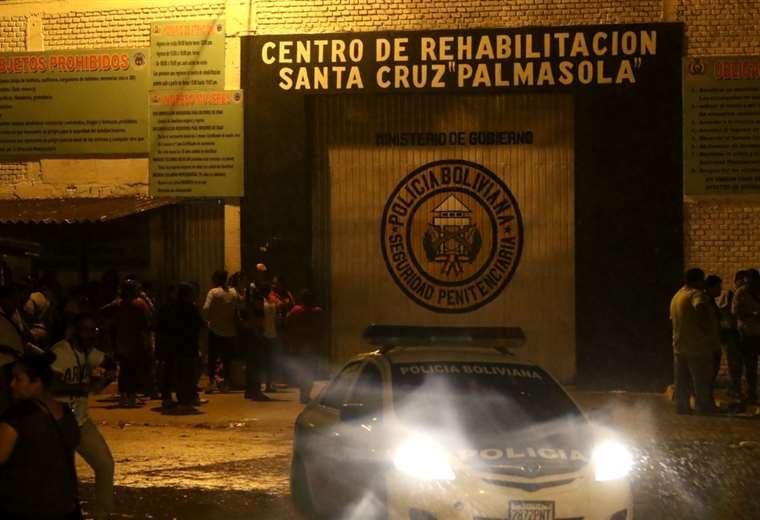 Situación tensa en Palmasola. Foto: Ricardo Montero