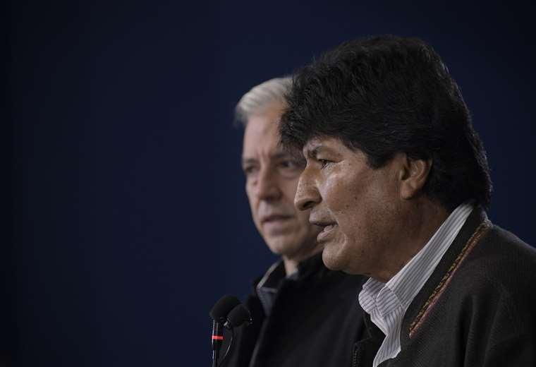 Morales en conferencia de prensa I Foto: ABI.