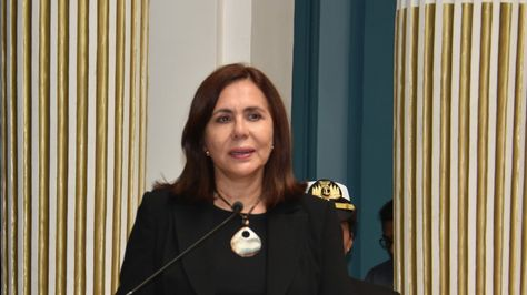 La canciller Karen Longaric. Foto:Cancillería