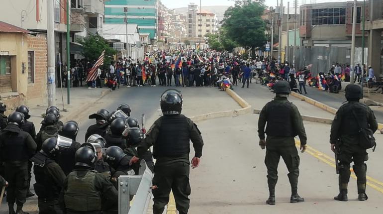 Pobladores de la zona sur y el valle alto piden entrar a la plaza principal de Cochabamba - eju.tv
