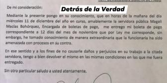 Cesar Cocarico devuelve boleta pago y pide no procesar a funcionaria del ministerio … Cesar Cocarico devuelve boleta pago y pide…
