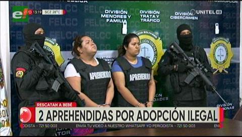 Dos aprehendidas por adopción ilegal