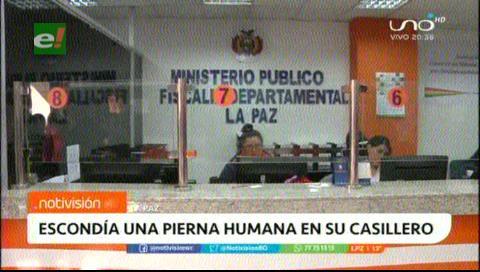 Hallan una pierna humana en un casillero en La Paz