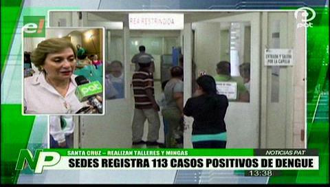 Sedes registra 113 casos confirmados de dengue en Santa Cruz
