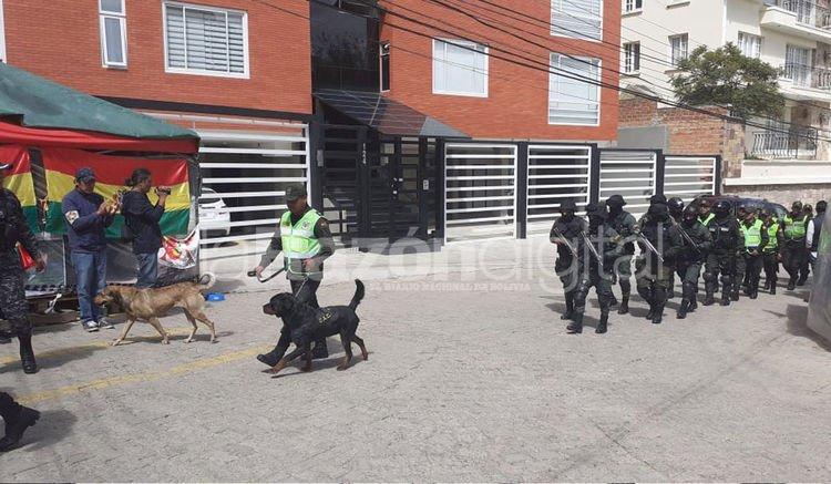 Inusual movimiento en La Rinconada este miércoles 15 de enero. Foto: Marco Ibañez
