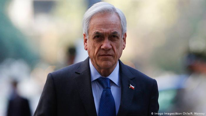 Chile Präsident Sebastian Pinera (Imago Images/Aton Chile/R. Monroy)