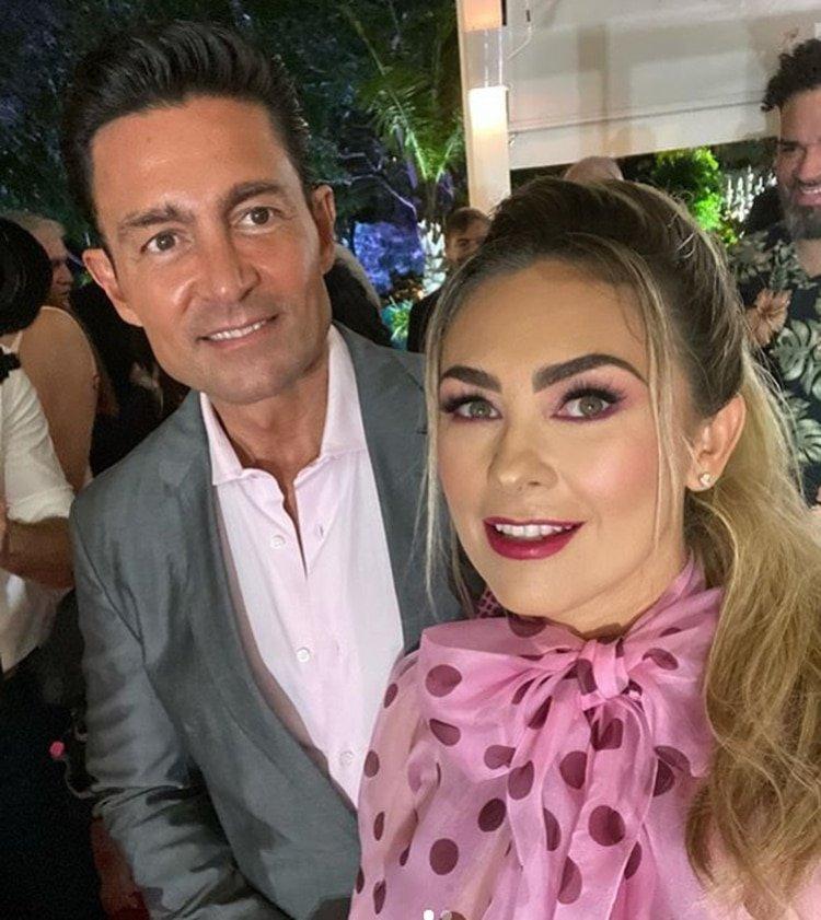Colunga se reencontró con Aracely Arámbula en República Dominicana