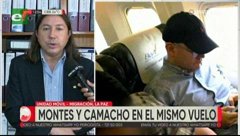 Camacho estaba en el mismo vuelo que Montes a EEUU, mientras que Pumari viajó un día antes