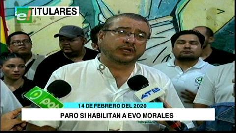 Video titulares de noticias de TV – Bolivia, mediodía del viernes 14 de febrero de 2020