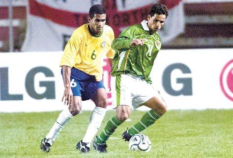 Paz en un partido de la Verde por eliminatorias contra Brasil en La Paz. Foto: Andrés Rojas-Archivo