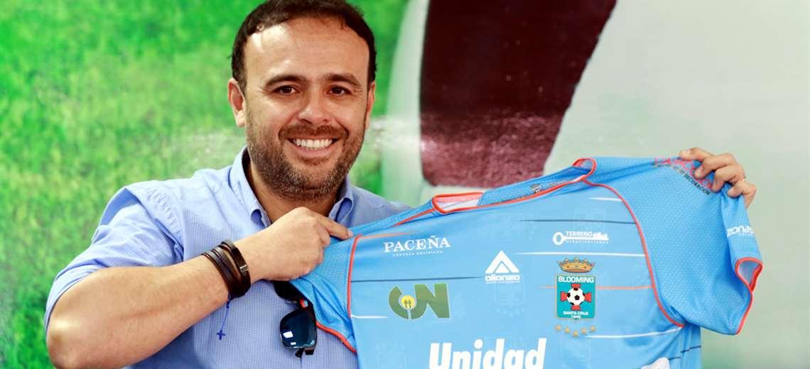 Juan Jordán, presidente del club Blooming. Foto. Ricardo Montero