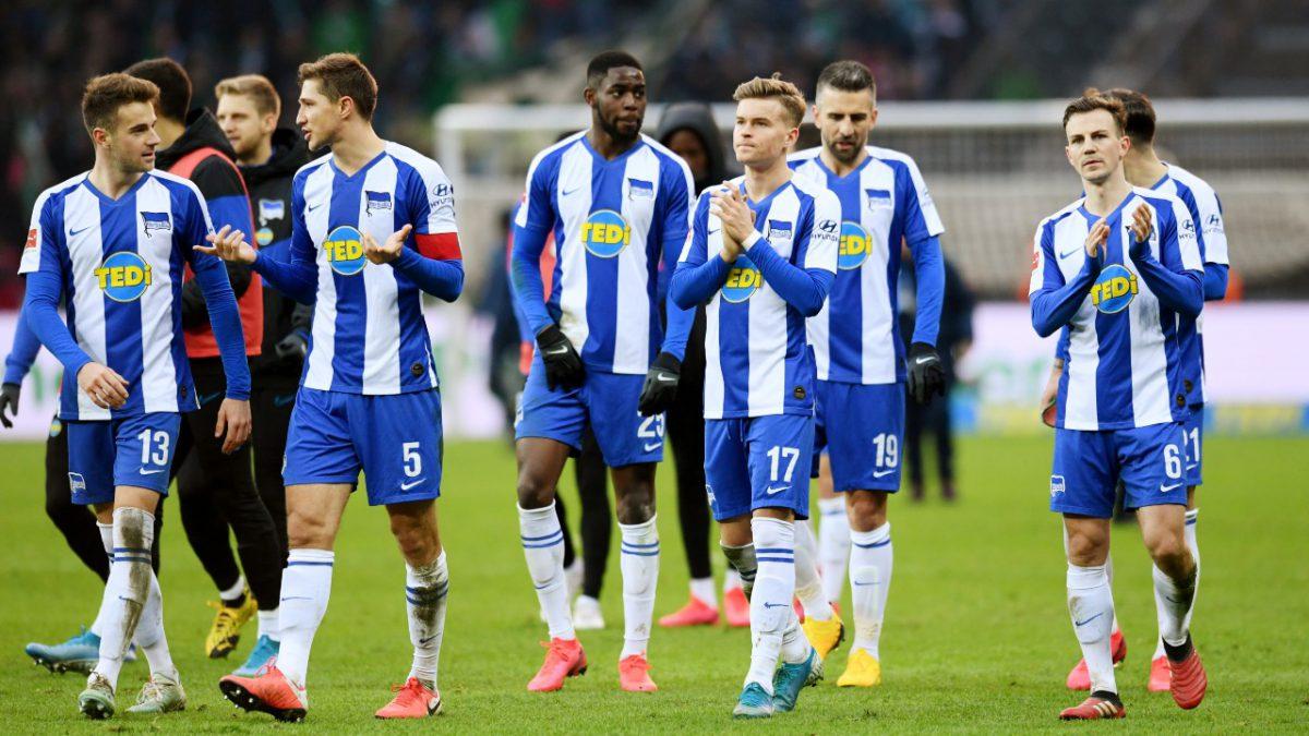 El plantel completo del Hertha Berlín en cuarentana